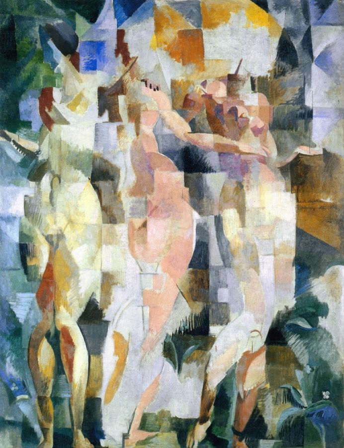 The Three Graces - Robert Delaunay: French Painters, French Art, Robert Delaunay, Delaunay 1912, Grace Delaunay, Robert Sonia, Painting, Sonia Delaunay Orphism, Three Grace