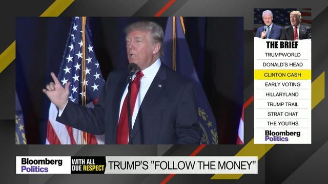 """Sept. 28 -- On """"With All Due Respect,"""" Mark Halperin and John Heilemann discuss Donald Trump's new """"follow the money"""" attack and whether bringing up the impeachment of Bill Clinton is a good idea."""