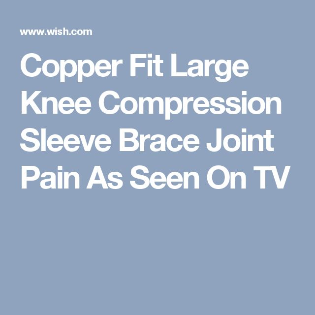 Copper Fit Large Knee Compression Sleeve Brace Joint Pain As Seen On TV