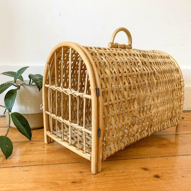 Vintage Rattan Pet Carrier Cane Wicker Cat Dog Box Pet Products Gumtree Australia Moreland Area Coburg Outdoor Wicker Furniture Rattan Wicker Furniture