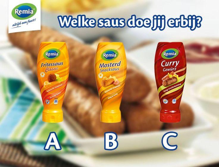 Frietsaus, mosterd, curry saus