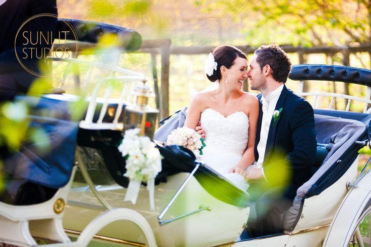 Romantic horse and carriage ride. Wedding Photography by Gold Coast Photographers Sunlit Studios.