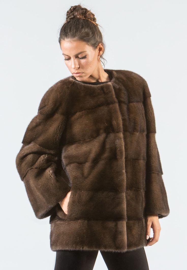Brown Mink Fur Jacket     #brown #mink #fur #jacket #real #style #realfur #elegant #haute #luxury #chic #outfit #women #classy #online #store
