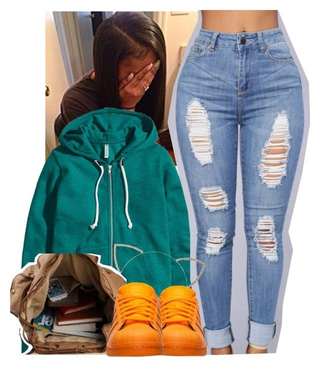 """"""""""" by yngshorty ❤ liked on Polyvore featuring H&M, Cara and adidas"""