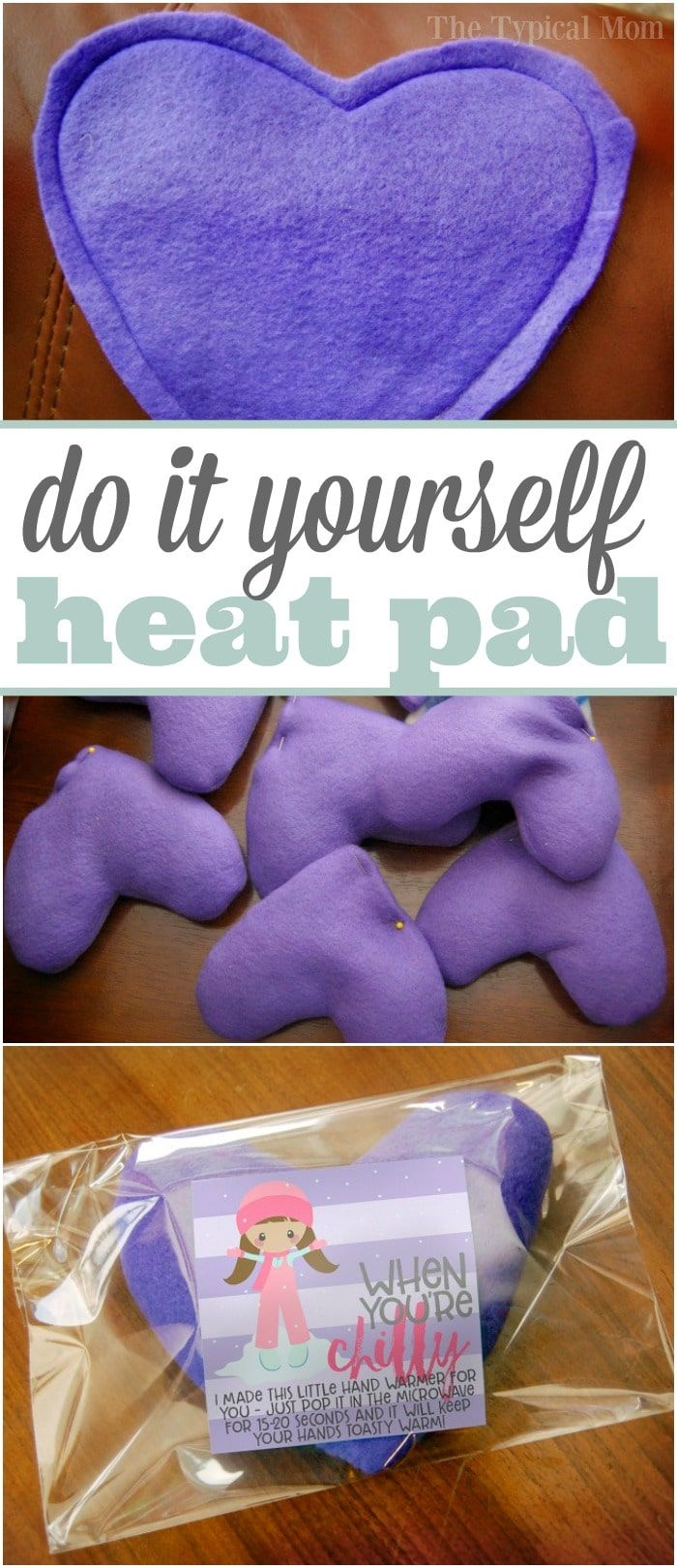 How to make homemade hand warmers filled with rice are the perfect little heating pads for your hands & with this free printable a perfect little gift too!