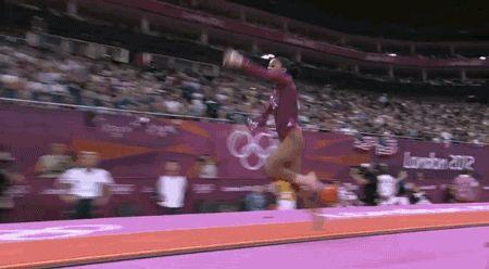 Vault — Score: 15.966 | Gabby Douglas's All-Around Gymnastics Gold In GIFs | Cool Gymnastics Tricks