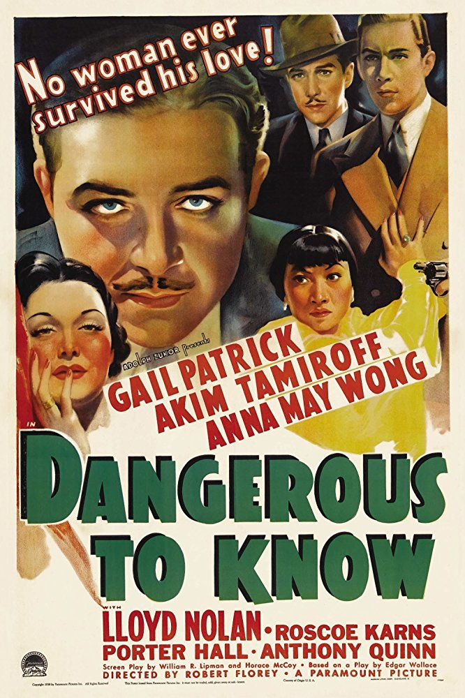 Anthony Quinn, Lloyd Nolan, Gail Patrick, Akim Tamiroff, and Anna May Wong in Dangerous to Know (1938)