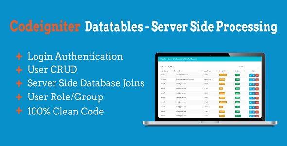 Datatables Server Side Codeigniter