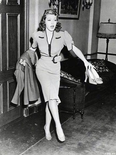 Black dress 40s style fashion