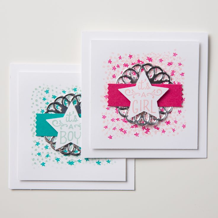 The new Medium Star punch is the perfect companion to the Sweet Li'l Ones stamp set.