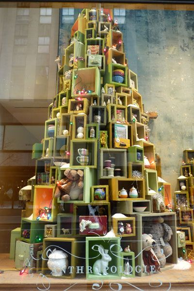 Christmas Gift Tree - great way to show gift ideas in your windows.