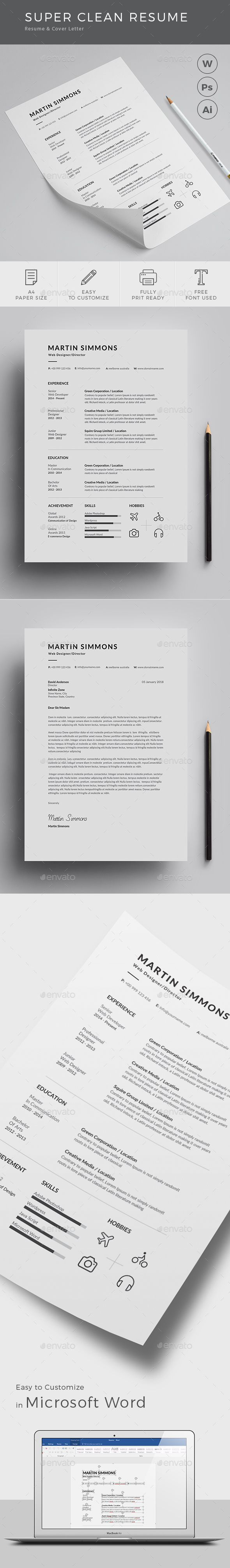 Best Resumes Examples 2012%0A Clean Resume cv template to help you land that great job  The flexible page