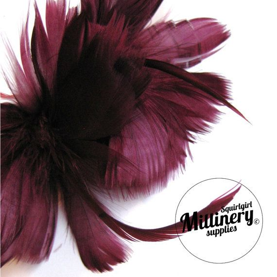 Wine Goose Feather Flower Hat Trim for Fascinators Wedding