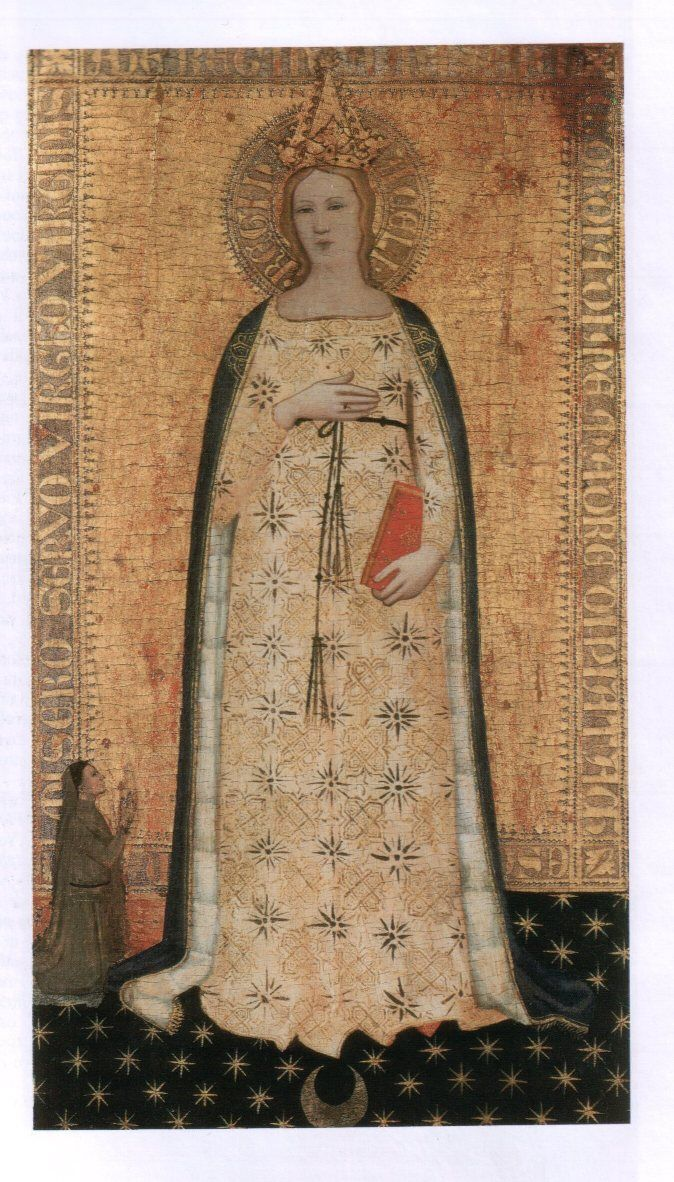 allaboutmary: Madonna del Parto A painting of Mary during her pregnancy in Fiesole, Italy.
