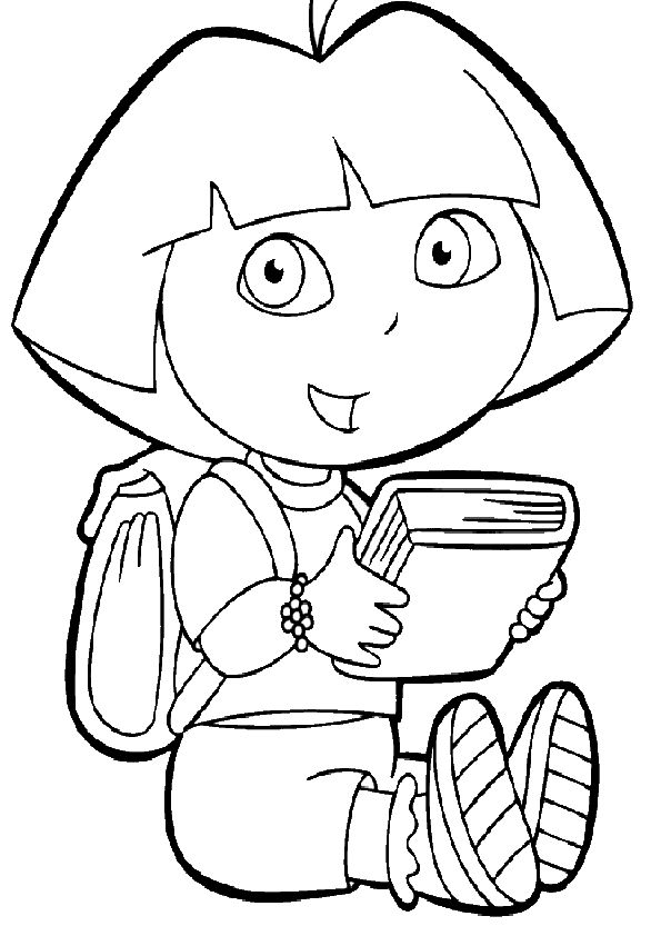 nick jr dora coloring pages - photo#17