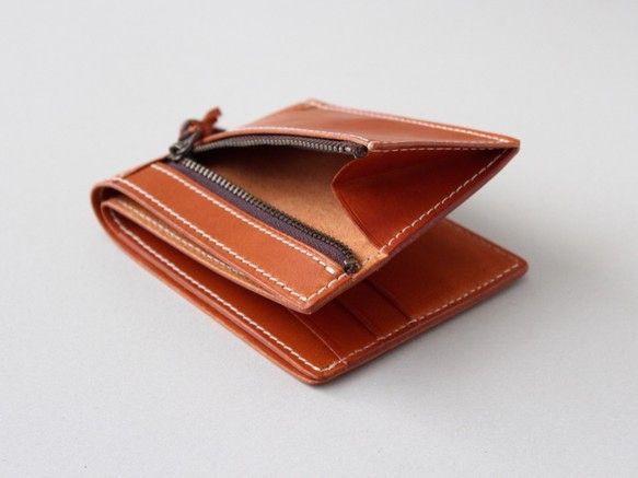 イタリアンレザーのスリム二つ折り財布|財布・二つ折り財布|Taniko leather|ハンドメイド通販・販売のCreema