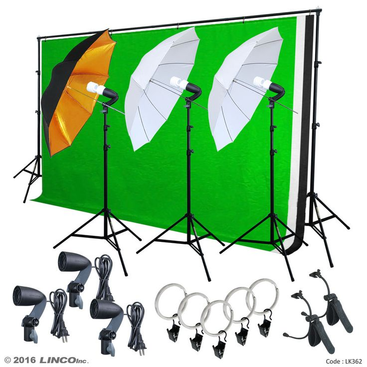 Photo Video Studio Lighting Photography 3 Backdrops Stand Muslin Photo Light Kit  sc 1 st  Pinterest : home studio lighting kit - azcodes.com