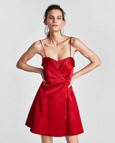 SATIN DRESS WITH EXPOSED SHOULDERS-DRESS TIME-WOMAN   ZARA United States