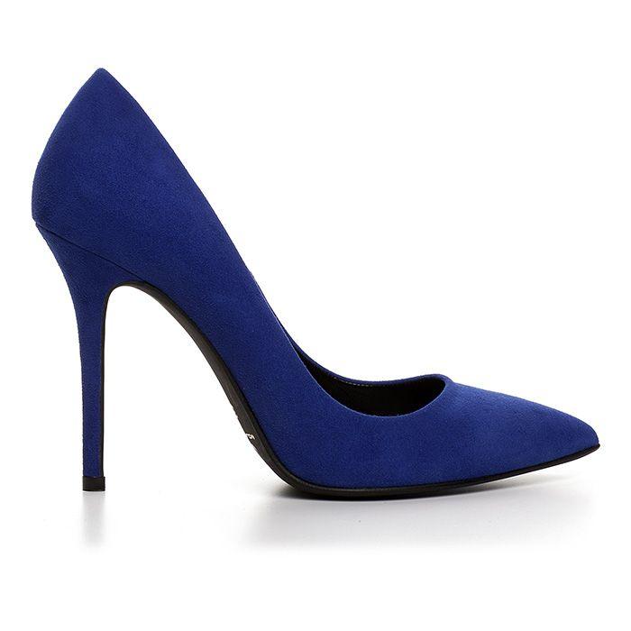100400_ELECTRIC BLUE SUEDE www.mourtzi.com #cobalt #suedeshoes #blue #pumps