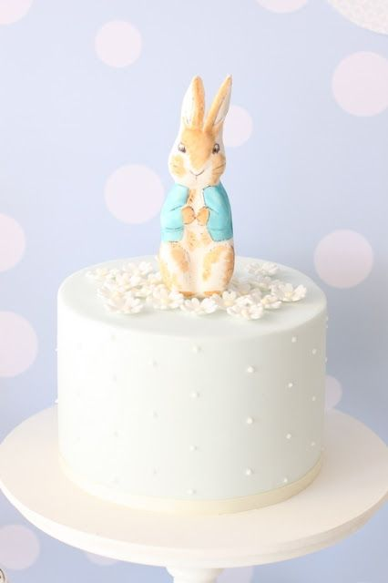 Peter Rabbit Cake, I think this cake  is pale blue, it could be any pastel color
