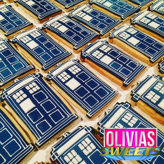 Dr. Who  Doctor Who Tardis Decorated Sugar by OLIVIASSweetsCookies