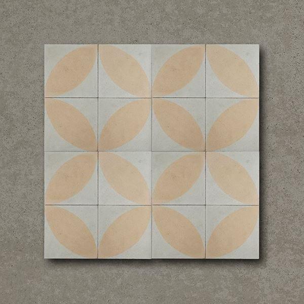 Autumn Leaves Handmade Encaustic Floor Tile Flamingo