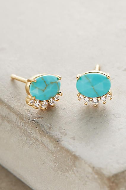 cute turquoise stud earrings