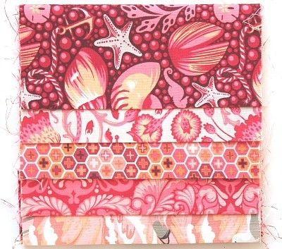 Tula Pink Stoffpaket - 5 Stk 15 x 55 cm - a414 von planet-patchwork auf DaWanda.com