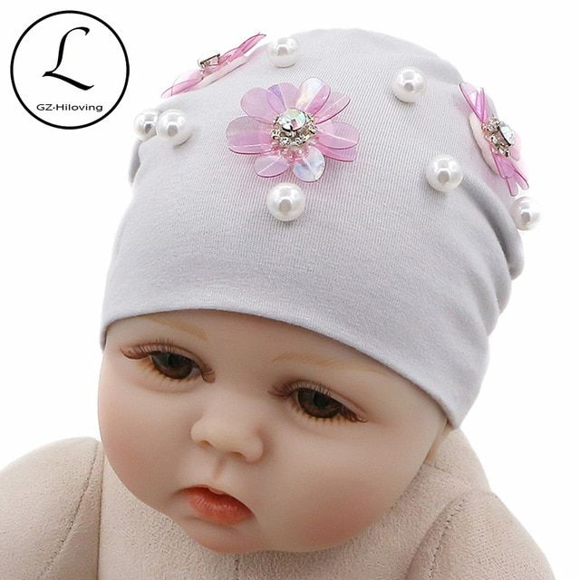 British Made Grey Baby Girl Princess Cute Decorative Frilly Knitted Pom Pom Newborn Baby Hats