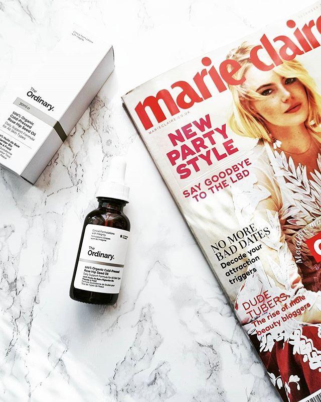 Rose Hip Seed Oil for glowy healthy-looking skin. #theordinaryskincare #theordinary #organic #rosehipoil #marieclaireuk #theabnormalbeautycompany #beauty #skincare