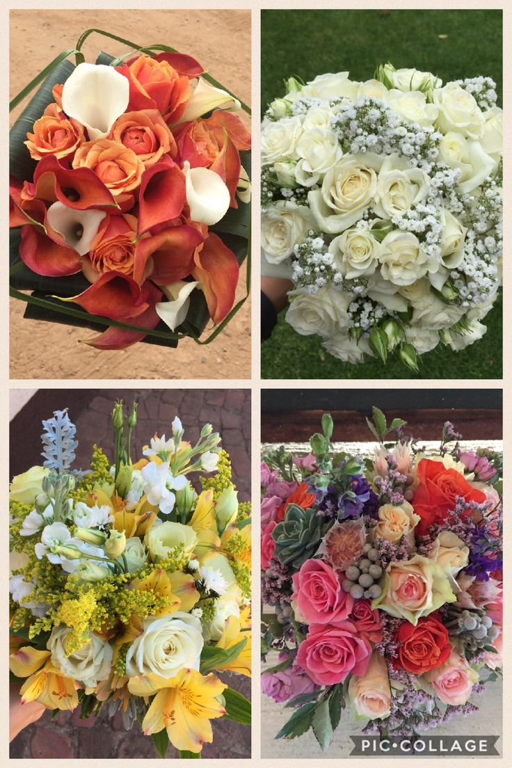 Some lovely bridal bouquets we've made this year, so much variety! There are endless options when it comes to your wedding bouquet. All designed by Bliss Floral Creations
