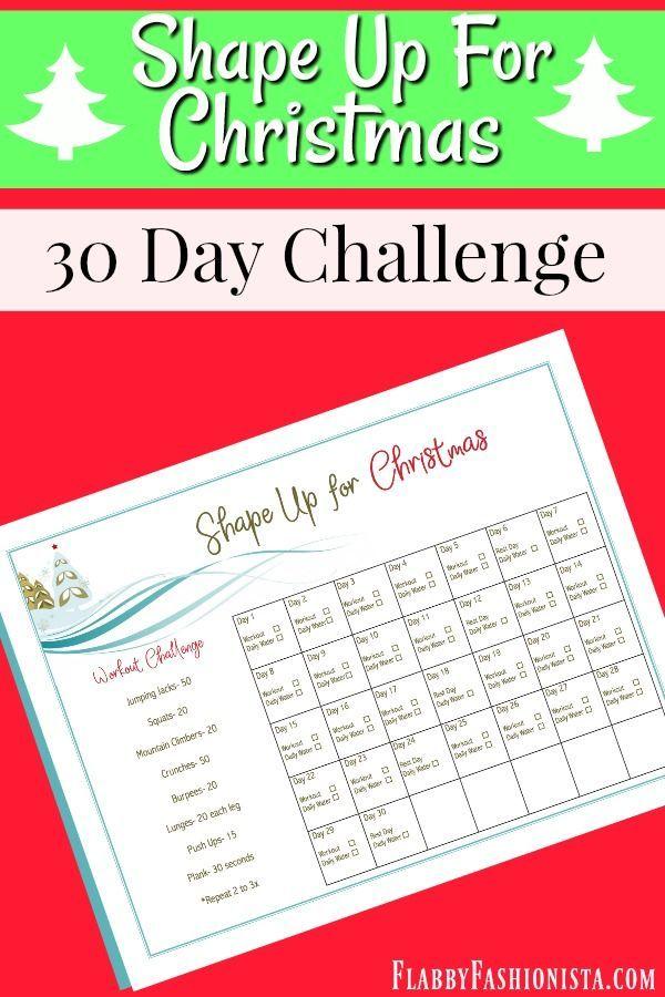 Christmas Shape Up 30 Day Workout Challenge - Use this Printable