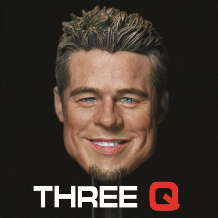 """48.00$  Watch here  - """"1/6  figure head shape for 12"""""""" Action figure doll Fight Club Brad Pitt smile head for figure, not include body and clothes"""""""