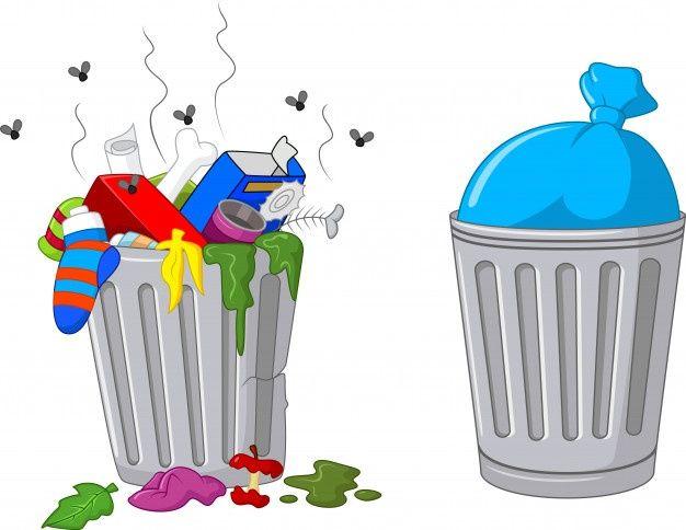 Ilustracao De Uma Lata De Lixo Dos Desenhos Animados Bote De Basura Reciclar Basura Basura