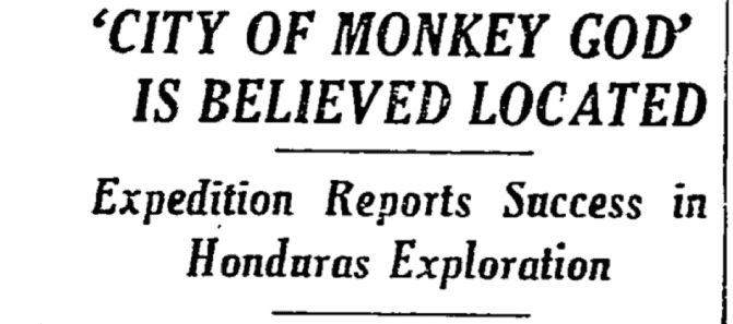 The City of the Monkey God. La Ciudad Blanca, or The White City. All the names given to the lost city rumored to exist in a pristine Honduran rainforest sound mythical, but National Geographic reports that now we have evidence that the legendary city was real.