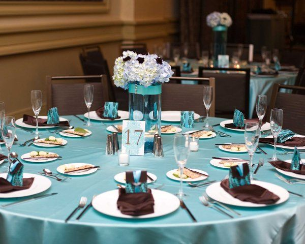 Chocolate And Teal Wedding Reception: 17 Best Images About Tiffany Blue And Brown Wedding On