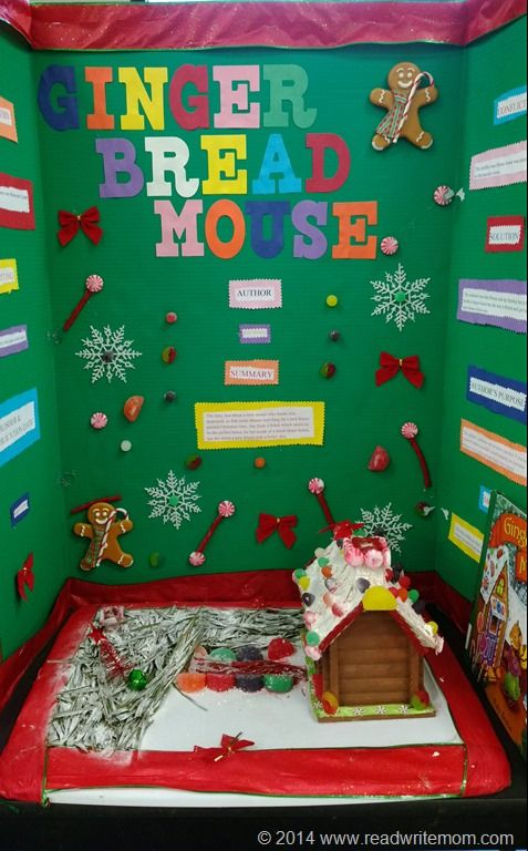 Gingerbread Mouse reading fair project board