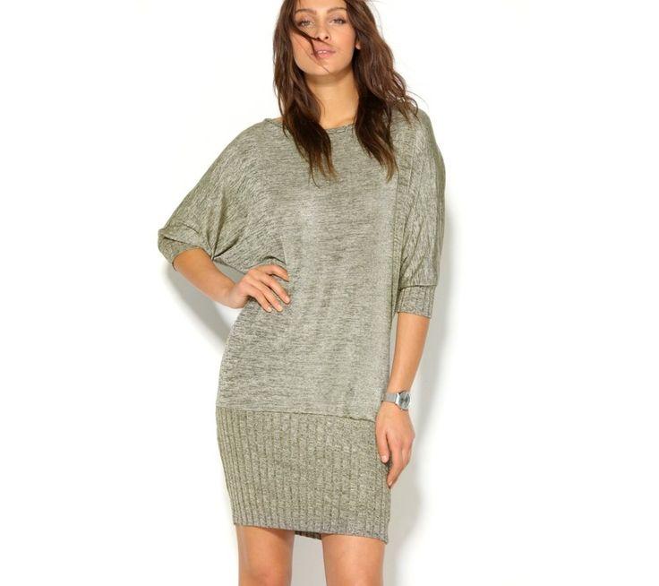 Žebrované šaty s netopýřími rukávy | vyprodej-slevy.cz #vyprodejslevy #vyprodejslecycz #vyprodejslevy_cz #saty