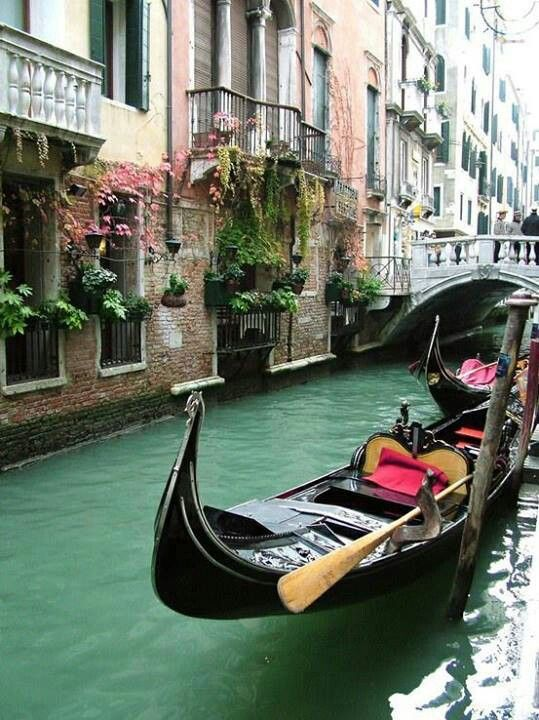Venice Italy  Didn't go on gondola when visited Venice as a child. Dad said it was too expensive. Didn't make my stay any less magical.