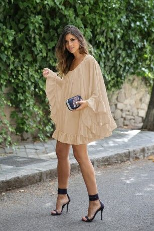 Casual Short Dress for this autum! Nude is perfect for this autum! New Arrivals   ChicDiva