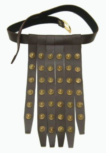 Roman Legionair Belt by ITDC. $74.95. Roman Legionair Belt- this Roman soldiers belt or Cinculum Militaire, is made leather belt with varying numbers of hanging leather strips and metal rings. Cr 100 A.D. and will fit up to a 46 inch waist.