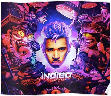 Chris Brown Indigo Drake album cover Poster Chris brown