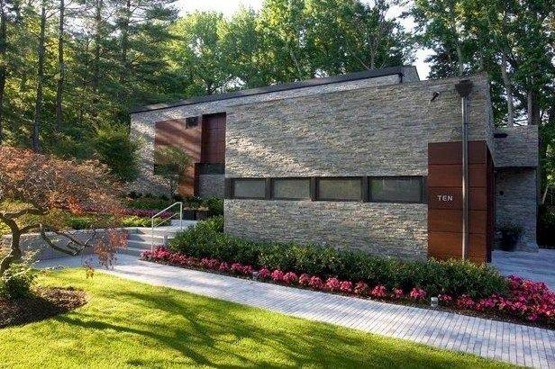Casas modernas revestidas con piedra fachadas - Fachadas de casas con piedra ...