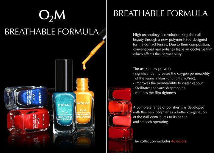 O2M nail enamels-breathable formula