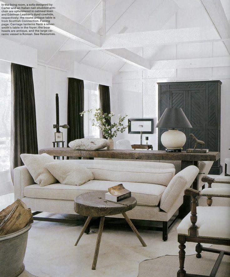 Neutral living room in white beige tan
