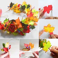 EVA Foam leaves tiara / Создаем яркий венок из фоамирана «Краски осени»