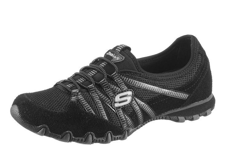 Skechers Slipper aus Leder und Textil, Futter: Textil, Innensohle: Textil, Laufsohle: Gummi, Schuhweite: normal (Weite F)....