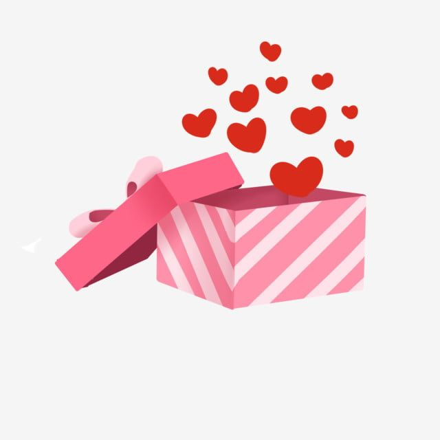 Happy Valentines Day Love Gift Illustration Valentines Day Present Pink Gift Box Boxed Love Red Love Floating Love Png Transparent Clipart Image And Psd File Pink Gift Box Happy Valentines Day
