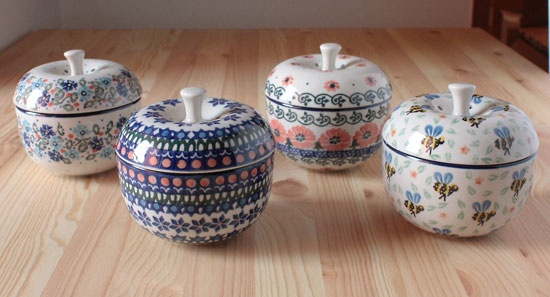 Polish Pottery apple pots
