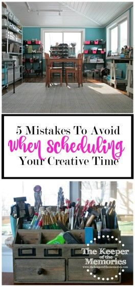 We all make mistakes when it comes to scheduling our creative time. I mean, c'mon. Who doesn't? I know I've made quite a few of them over the years. I have good intentions, but poor follow-through. I let myself think I can get my never-ending creative to-do list finished and I get frustrated when it doesn't happen as quickly as I has hoped. I'm sure you can relate. Here are 5 mistakes to avoid when scheduling your creative time. #organizing